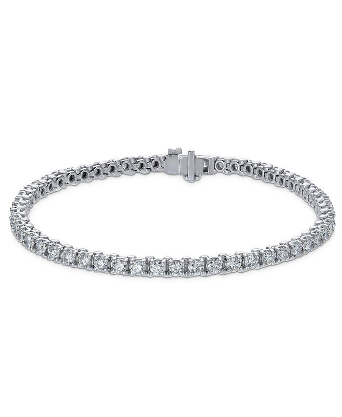 Macy's - Certified Diamond Tennis Bracelet (4 ct. t.w.) in 14k White Gold