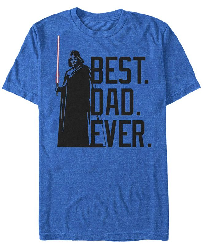 Fifth Sun Men's Star Wars Darth Vader Best Dad Ever Tonal Short Sleeve T-shirt