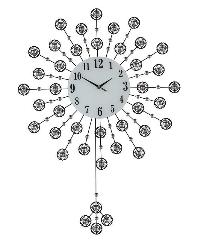Three Star Flowers Wall Clock