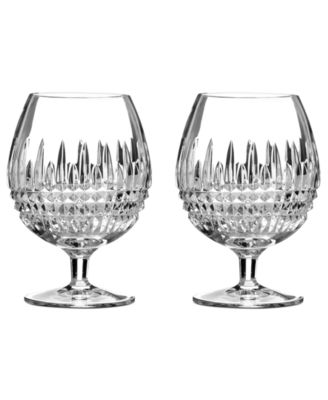 Waterford Barware, Lismore Diamond Brandy Glasses, Set of 2