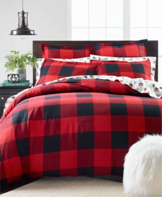 Martha Stewart Collection Buffalo Plaid Flannel Full Queen Duvet Cover Created For Macy S Reviews Duvet Covers Bed Bath Macy S