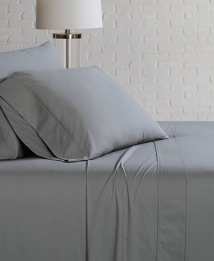Brooklyn Loom - Solid Cotton Percale Twin Sheet Set
