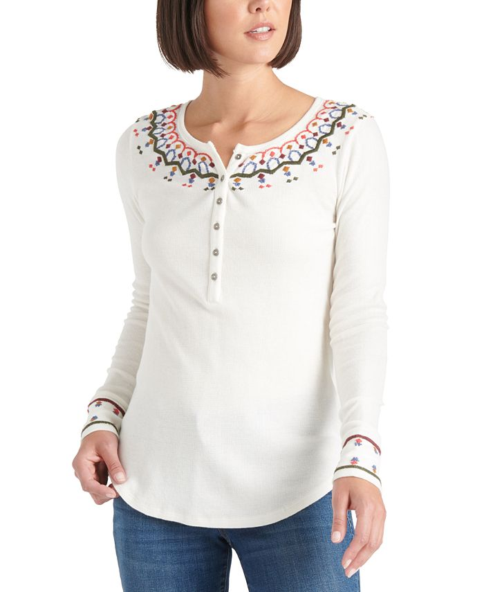 Lucky Brand - Embroidered Necklace Top