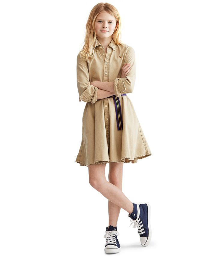 Polo Ralph Lauren - Big Girls Cotton Chino Shirtdress