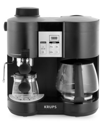 Krups XP160050 Espresso & Coffee Maker, Steam Combi