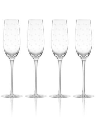 kate spade new york Set of 4 Larabee Dot Flutes