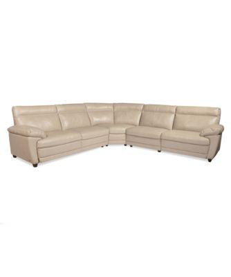 Carmelo Carmelo Leather Sectional Sofa Power Motion