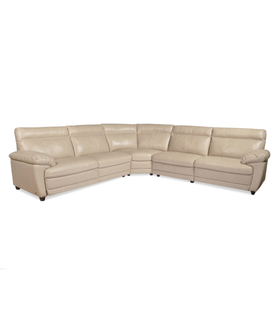 Leather Sectional Sofa With 3 Power Recliners: Carmelo Carmelo Leather Sectional Sofa, Power Motion