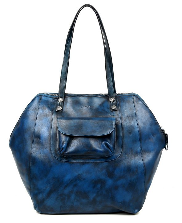 OLD TREND Clam Bay Leather Tote Bag