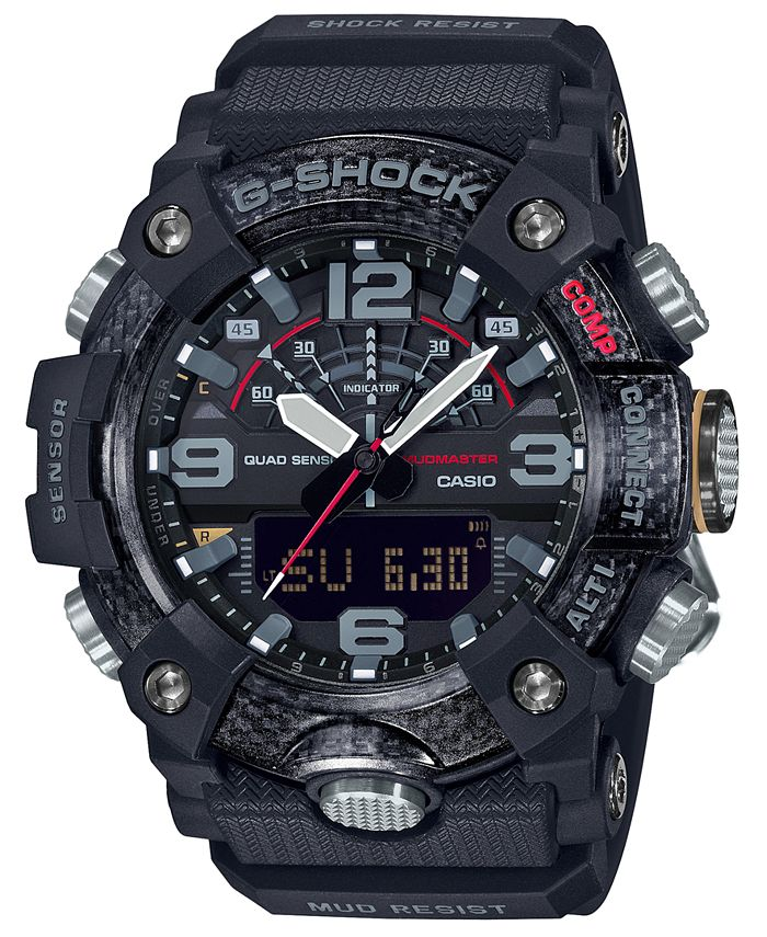 G-Shock - Men's Analog-Digital Connected Mudmaster Black Resin Strap Watch 53.1mm