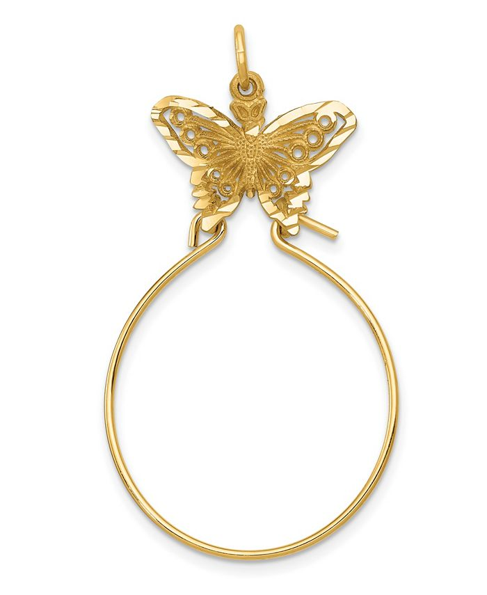 Macy's - Butterfly Holder Charm in 14k Yellow Gold