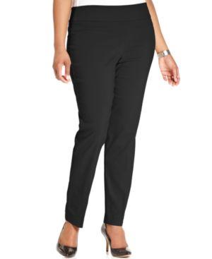 Alfani Plus Size Modern Skinny Pull-On Pants