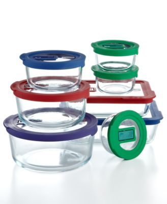 Pyrex 16 Piece No Leak Storage Set with Vent Tab Lids