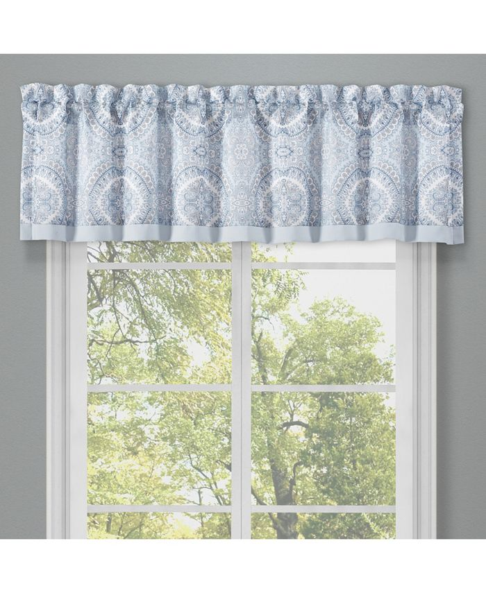 Royal Court - Claremont Blue Window Straight Valance