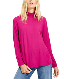 Eileen Fisher Mock-Neck Knit Top, Created for Macy's