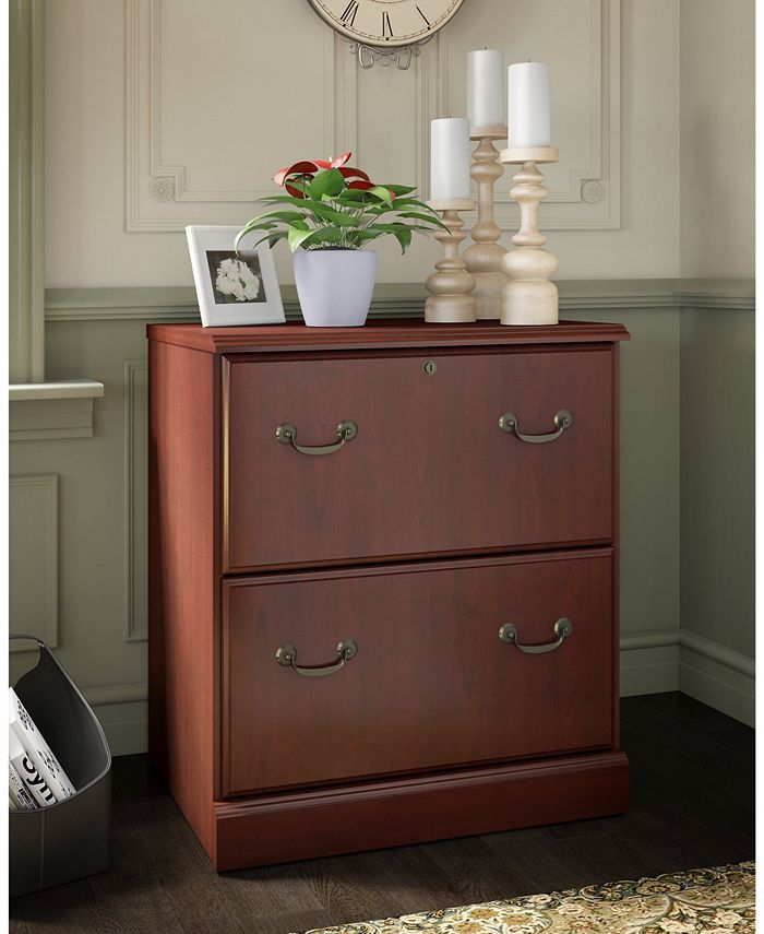 Kathy Ireland Home by Bush Furniture - kathy ireland® Home by Bush Furniture Bennington 2 Drawer Lateral File in Harvest Cherry