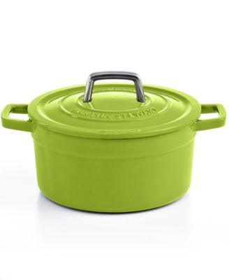 Clearance Martha Stewart Collection Collector's Enameled Cast Iron 3 Qt. Round Green Apple Casserole