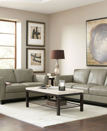 Turin Leather Sofa Living Room Furniture Collection Furniture Macy 39 S