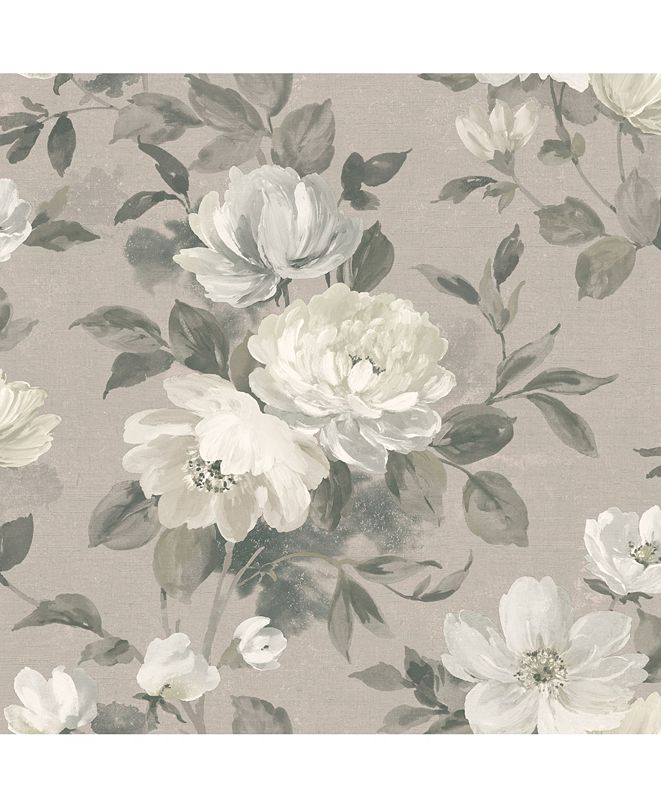 "Wall Vision 21"" x 396"" Peony Light Floral Wallpaper"