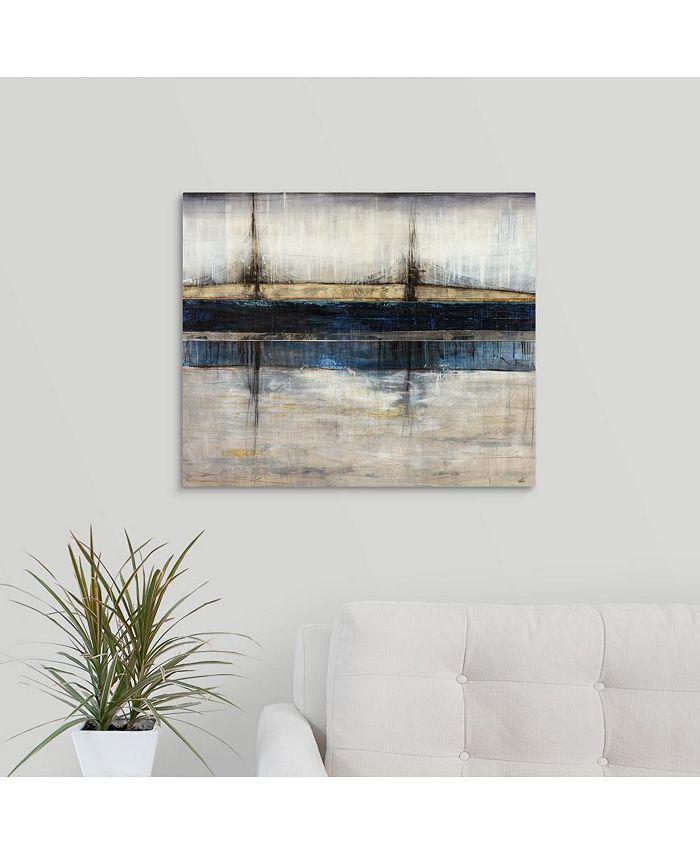 """GreatBigCanvas - 24 in. x 20 in. """"City Blue"""" by  Joshua Schicker Canvas Wall Art"""