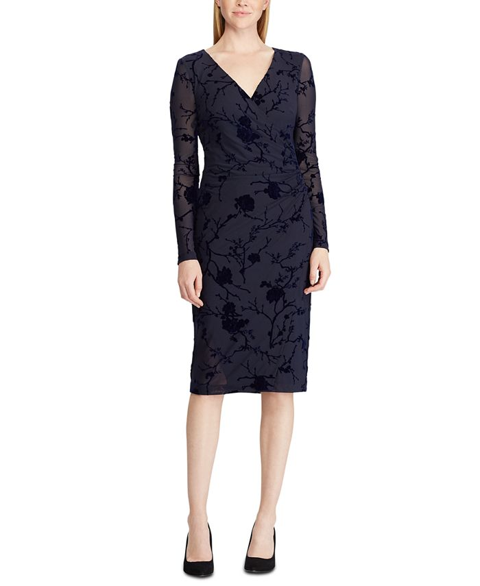 Lauren Ralph Lauren - Velvet Surplice Dress