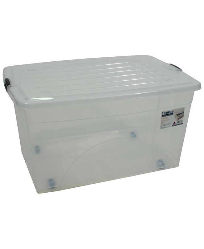 TAURUS 22 Gallon Rolling Bin Storage Organizer