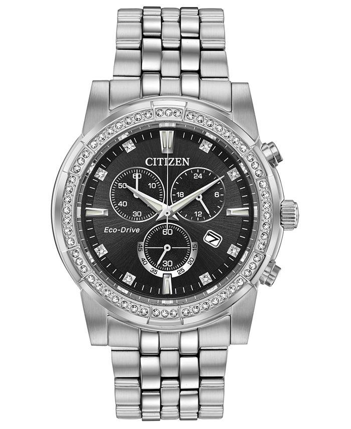 Citizen - Men's Chronograph Corso Stainless Steel Bracelet Watch 42mm