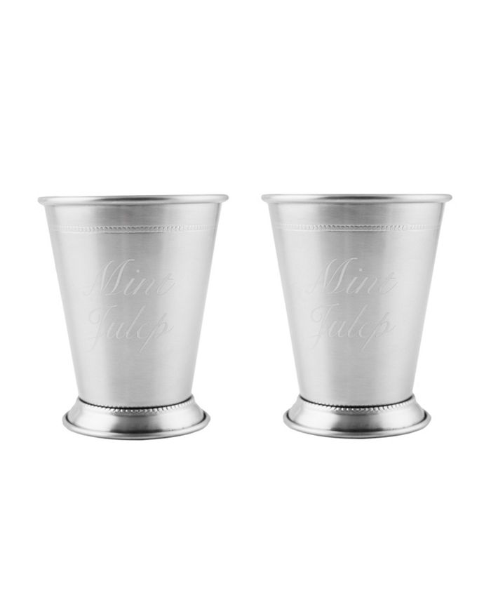 Thirstystone - Stainless Steel Silver Mint Julep Cups, Set of 2