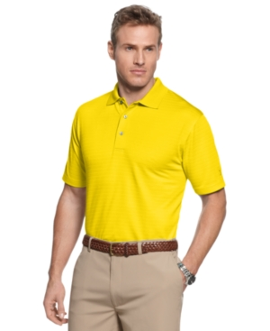 Champions Tour Golf Shirt Textured Ottoman Performance Polo Golf Shirt