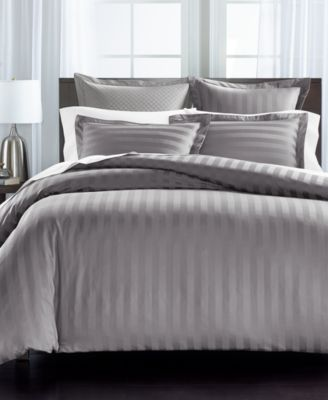 Stripe Supima Cotton 550-Thread Count 3-Pc. King Duvet Cover, Created for Macy's