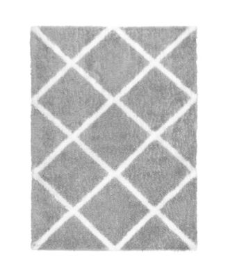 "Riley RIL03 Gray 7'10"" x 10'2"" Area Rug"