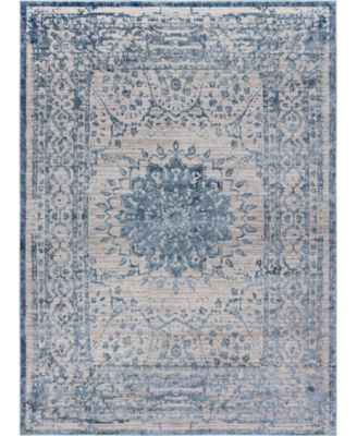 Aitana Ait1 Blue 4' x 6' Area Rug