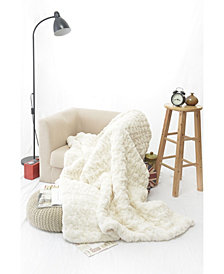 """Happycare Tex Luxury Quilted Faux Fur Throw Blanket, 50"""" x 60"""""""