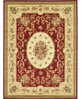 Belvoir Blv4 Red 6' x 6' Round Area Rug