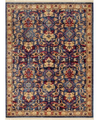 Borough Bor1 Blue 5' x 5' Round Area Rug