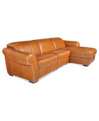 Blayne Leather Sectional Sofa 5 Piece Chair Armless
