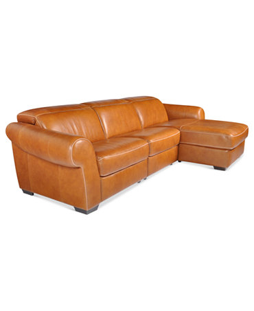 Blayne Leather Sectional Sofa 3 Piece Chair Armless Chair And Right Arm Facing Chaise 120 W