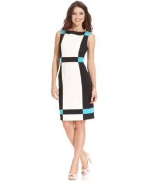 Buy macys & suits - Maggy London Dress, Sleeveless Colorblocked Sheath