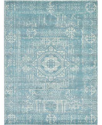 Wisdom Wis3 Light Blue 4' x 6' Area Rug