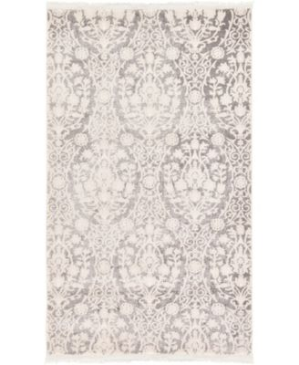 Norston Nor5 Gray 7' x 10' Area Rug