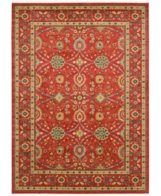 Orwyn Orw1 Red 8' x 8' Round Area Rug