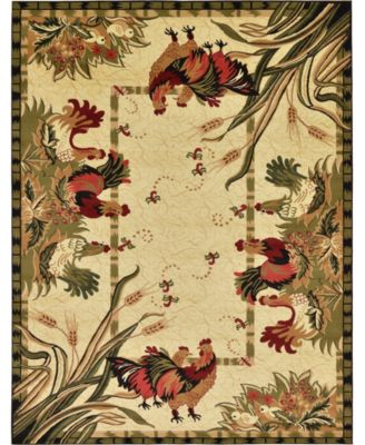 Roost Roo1 Ivory 7' x 10' Area Rug