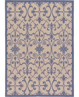 Pashio Pas5 Blue 6' x 6' Square Area Rug