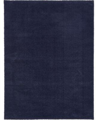 Salon Solid Shag Sss1 Midnight Blue 9' x 12' Area Rug