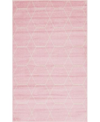 Plexity Plx1 Pink 5' x 8' Area Rug