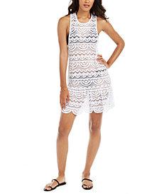 Miken Juniors'  Crochet Racerback Dress Cover-Up, Created for Macy's