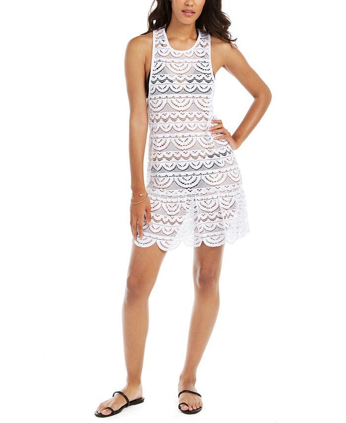 Miken - Crochet Racerback Drop-Waist Dress Cover-Up