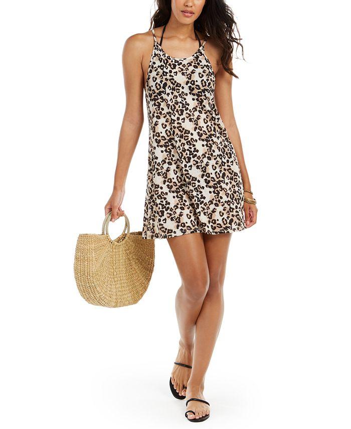 Miken - Juniors' Leopard-Print Cover-Up Dress