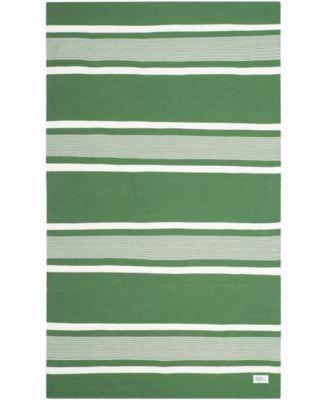 Hanover Stripe LRL2461B Green 5' X 8' Area Rug