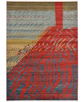 Ojas Oja1 Red 5' x 8' Area Rug